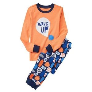 NEW! Boys Pajamas Wake Up Orange Size 10
